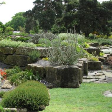 skalniak w ogrodzie wykonany metodą tarasową